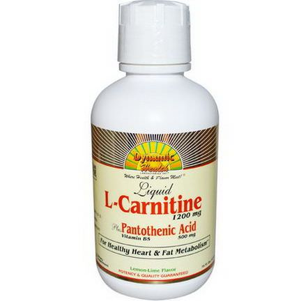 Dynamic Health Laboratories, L-Carnitine, Lemon Lime Flavor, 1200mg 473ml