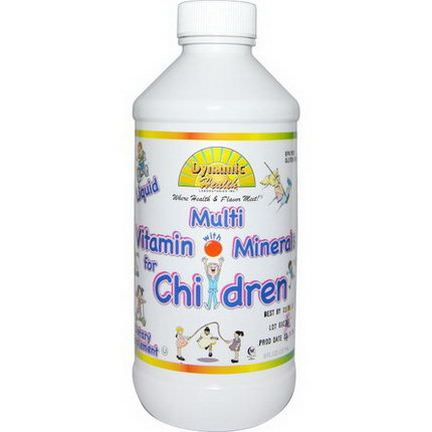 Dynamic Health Laboratories, Liquid Multi Vitamin with Minerals for Children, Fruit Punch Flavor 237ml