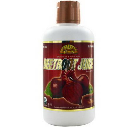 Dynamic Health Laboratories, Organic, Beetroot Juice 946ml