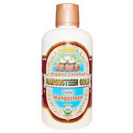 Dynamic Health Laboratories, Organic Certified Mangosteen Gold 946ml