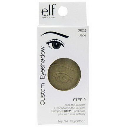 E.L.F. Cosmetics, Custom Eyeshadow, Step 2, Sage 1.5g