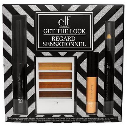 E.L.F. Cosmetics, Get The Look, Eye Makeup Collection, 4 Piece Kit