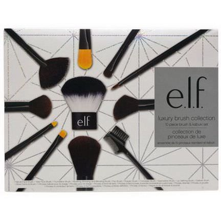 E.L.F. Cosmetics, Luxury Brush Collection, 10 Piece Brush&Kabuki Set