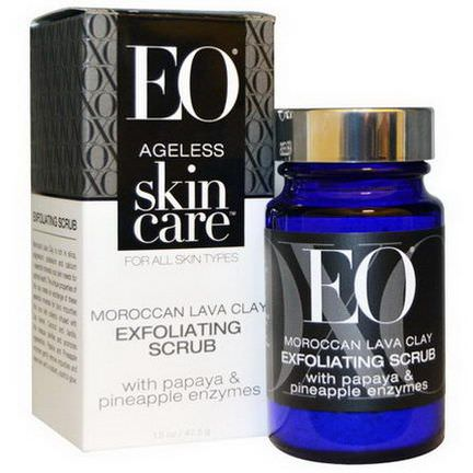 EO Products, Ageless Skin Care, Moroccan Lava Clay, Exfoliating Scrub 42.5g
