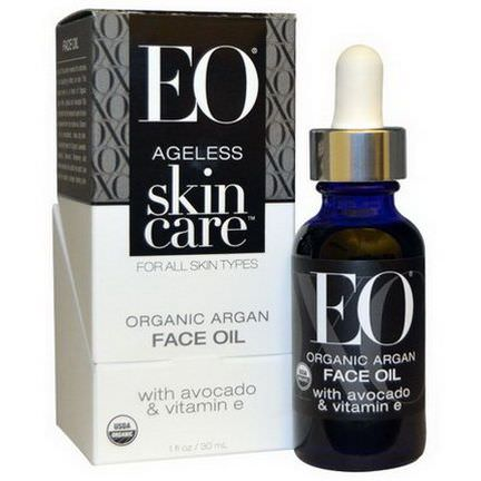 EO Products, Ageless Skin Care, Organic Argan Face Oil 30ml