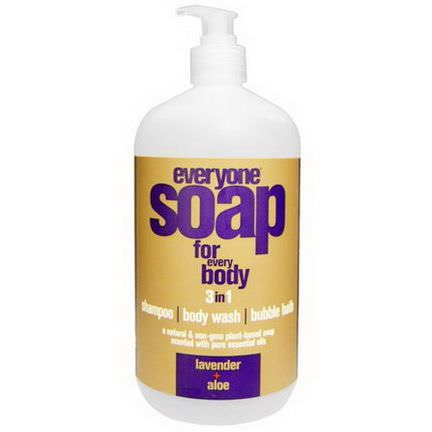 EO Products, Everyone Soap for Every Body, 3 In One, Lavender Aloe 946ml