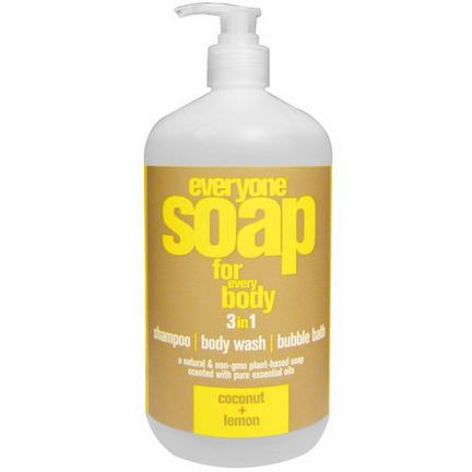 EO Products, Everyone Soap for Every Body, 3 in 1, Coconut Lemon 946ml