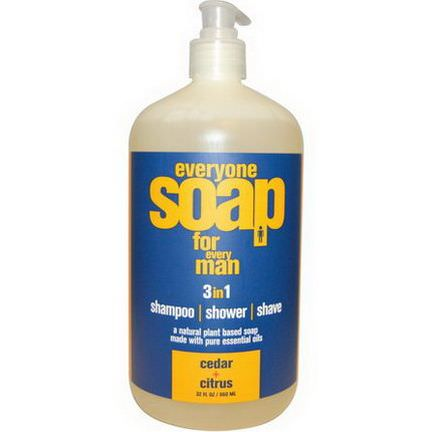 EO Products, Everyone Soap for Every Man, Cedar Citrus 960ml