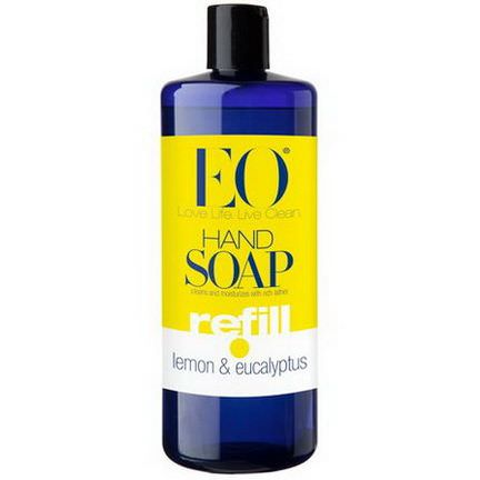 EO Products, Hand Soap, Refill, Lemon&Eucalyptus 946ml