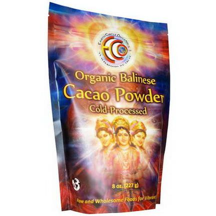Earth Circle Organics, Organic Balinese Cacao Powder 227g