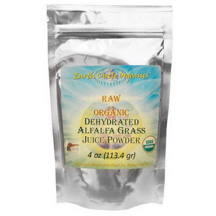 Earth Circle Organics, Raw Organic Dehydrated Alfalfa Grass Juice Powder 113.4g