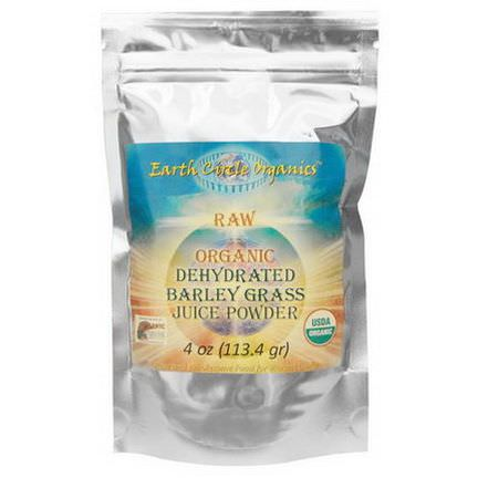 Earth Circle Organics, Raw Organic Dehydrated Barley Grass Juice Powder 113.4g