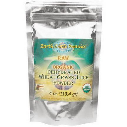 Earth Circle Organics, Raw Organic Dehydrated Wheat Grass Juice Powder 113.4g