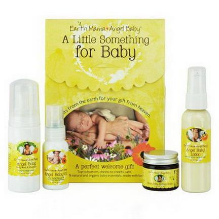 Earth Mama Angel Baby, A Little Something for Baby, 4 Piece Set