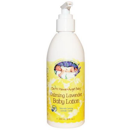 Earth Mama Angel Baby, Baby Lotion, Naturally Calming Lavender Vanilla 240ml