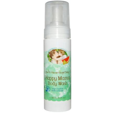 Earth Mama Angel Baby, Happy Mama Body Wash, Ginger Grapefruit 160ml