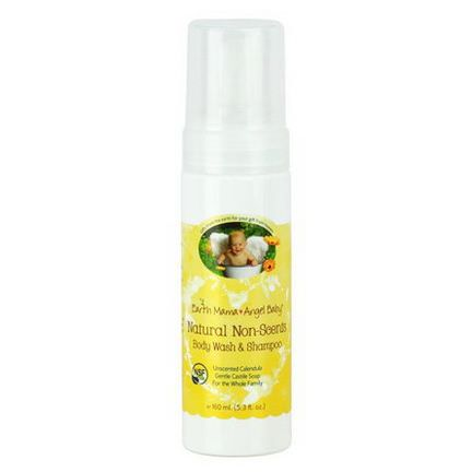 Earth Mama Angel Baby, Natural Non-Scents Shampoo&Body Wash, Unscented Calendula 160ml