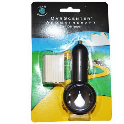 Earth Solutions, CarScenter, Aromatherapy Car Diffuser, 1 Diffuser, 10 Pads