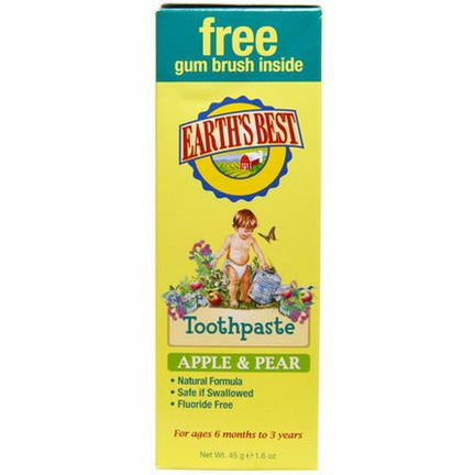 Earth's Best, Toothpaste, Apple&Pear 45g