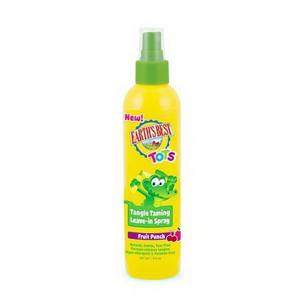 Earth's Best, Tots, Tangle Taming Leave-In Spray, Fruit Punch 237ml