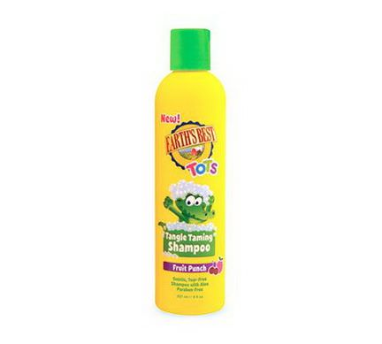 Earth's Best, Tots, Tangle Taming Shampoo, Fruit Punch 237ml