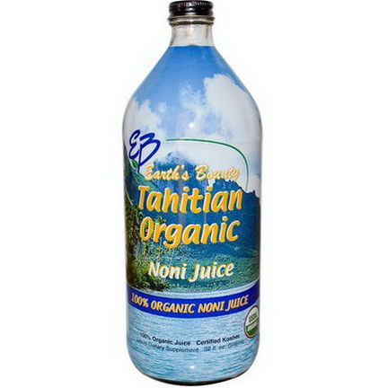 Earth's Bounty, Tahitian Organic Noni Juice 946ml