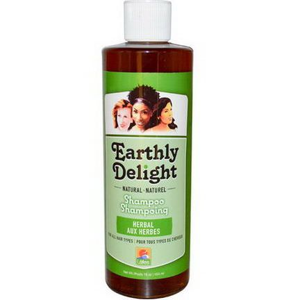 Earthly Delight Hair Care, Natural Shampoo, For All Hair Types, Herbal 454ml