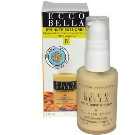 Ecco Bella, Eye Nutrients Cream, 6 30ml