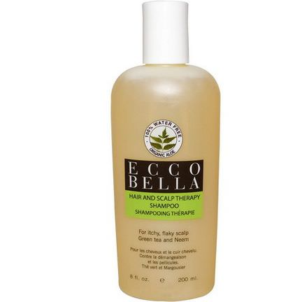 Ecco Bella, Hair and Scalp Therapy Shampoo, Green Tea and Neem 200ml