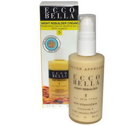 Ecco Bella, Night Rebuilder Cream, 5 60ml