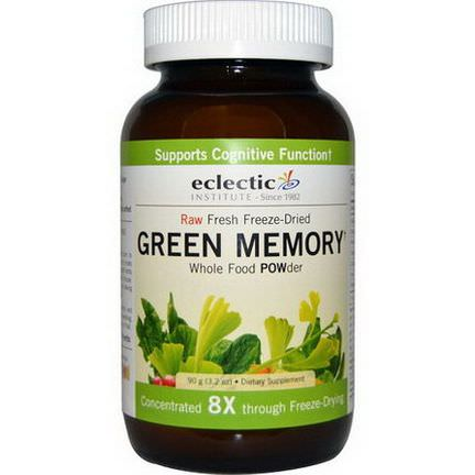 Eclectic Institute, Green Memory POWder, Raw 90g