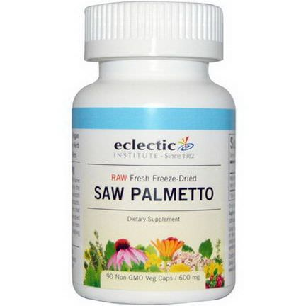 Eclectic Institute, Saw Palmetto, 600mg, 90 Non-GMO Veggie Caps