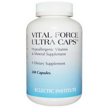 Eclectic Institute, Vital Force Ultra Caps, 240 Capsules