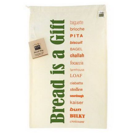 Eco-Bags Products, Certified Organic Cotton Printed Reusable Bread Bag, 1 Bag, 11.5