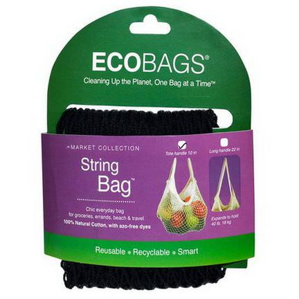 Eco-Bags Products, Market Collection, String Bag, Black, 1 Bag