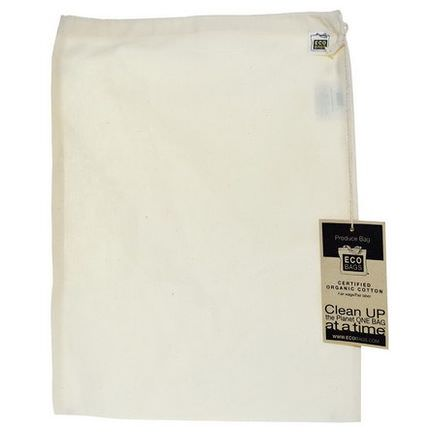 Eco-Bags Products, Organic Cotton Produce Bag, Large, 1 Bag, 12
