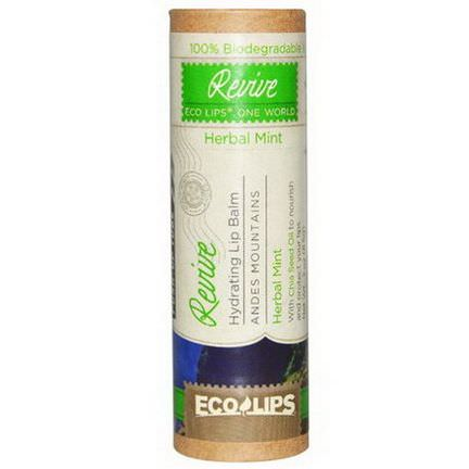 Eco Lips Inc. Hydrating Lip Balm, Revive, Herbal Mint 8.5g