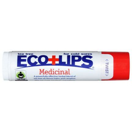 Eco Lips Inc. Medicinal Lip Balm, Tea Tree 4.25g