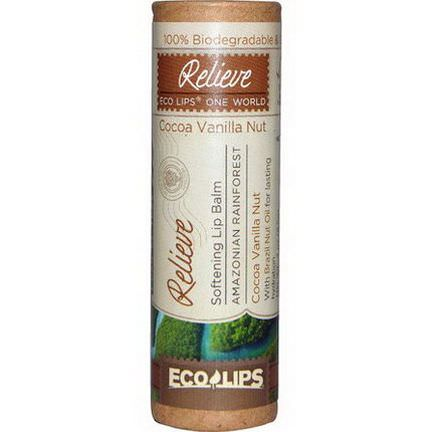 Eco Lips Inc. Softening Lip Balm, Relieve, Coconut Vanilla Nut 8.5g