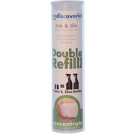 EcoDiscoveries, Double Refill Pack, Tub&Tile Soap Scum Remover 60ml Each