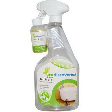 EcoDiscoveries, Tub&Tile, Soap Scum Remover 60ml Concentrate w/ 1 Spray Bottle