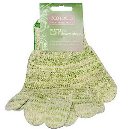 EcoTools, Recycled Bath&Shower Gloves, 1 Pair