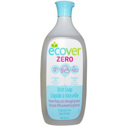 Ecover, Liquid Dish Soap, Zero, Fragrance Free 739ml