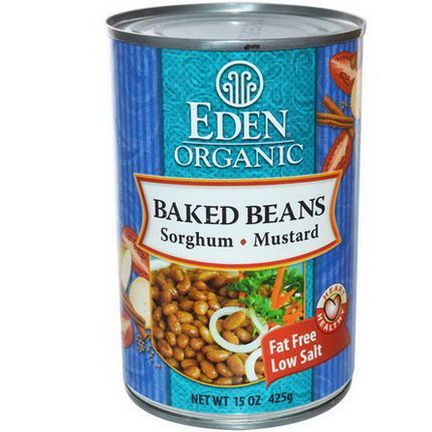 Eden Foods, Organic Baked Beans with Sorghum&Mustard 425g