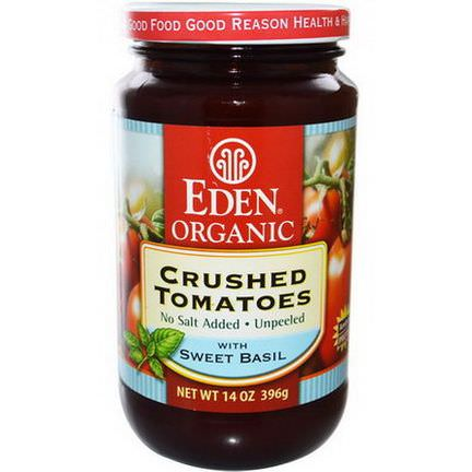 Eden Foods, Organic Crushed Tomatoes with Sweet Basil 396g