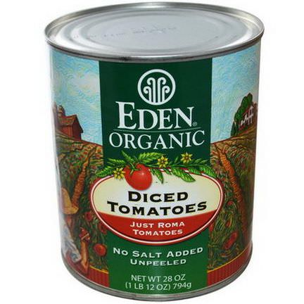 Eden Foods, Organic Diced Tomatoes, Just Roma Tomatoes 794g