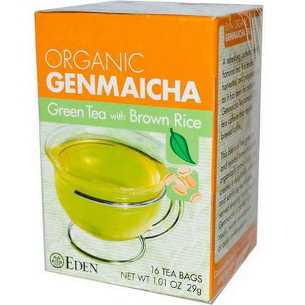 Eden Foods, Organic Genmaicha, Green Tea with Brown Rice 29g