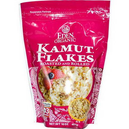 Eden Foods, Organic Kamut Flakes, Roasted&Rolled 454g