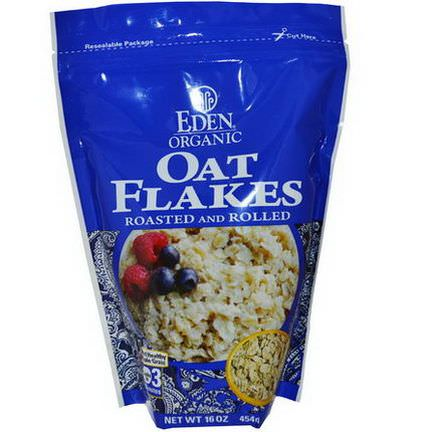 Eden Foods, Organic Oat Flakes, Roasted and Rolled 454g