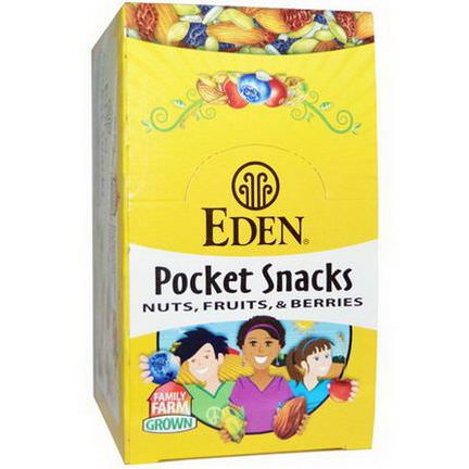 Eden Foods, Pocket Snacks, Quiet Moon, Nuts, Seeds, Dried Fruit, 12 Packages 28.3g Each